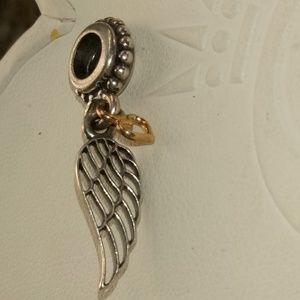 Pandora Love & Guidance Dangle wings 14k heart